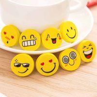 ingrosso cancelleria smiley-Faccina magnetica Emoji gomma gomma da lavagna super carina per forniture di cancelleria per bambini studenti della scuola