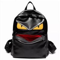 рюкзак оптовых-мультфильм Монстр женские рюкзаки известный бренд монстр дизайнер женщины высокое качество панелями рюкзак мягкая кожа горячая продажа