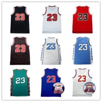 Wholesale men sleeveless tops - Top quality Men's Basketball Jerseys # 23 Michael White Red Black Jerseys Stitched REV 30 Basketball Wear Free Shipping