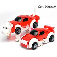 Wholesale Wind Car Toy - 2018 hot Deformation of the dog Transform Puppy Morphing Toy Cars Automatic Wind Up Toy Robot Dog Creative Gift for Boys Girls