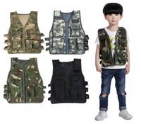 детские темы оптовых-Открытый игрушка камуфляж тактический жилет дети армии куртка жилет для детей дети тема костюмы CS001