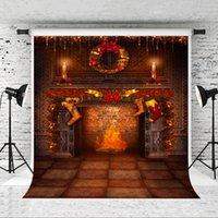 Wholesale christmas photo backdrops for sale - Group buy Dream x7ft Brick Fireplace Backdrop for Christmas Party Photography Background Children Xmas Holiday Photo Professional Shoot Studio Prop