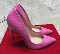 0a3dd61e1655 Preto serpentina de salto alto exclusivo marca de patente de couro PU boca  rasa sapatos de salto alto bomba onda 8 cm 10 cm 12 cm + saco de pó + caixa