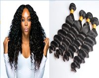 Wholesale loose deep wave remy - Brazilian Loose Deep Wave Virgin Hair Weave Remy Human Hair Extensions 4pcs lot Natural Color No Shedding Tangle Free Can Be Dyed Bleached