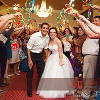 düğün değnekleri sopa toptan satış-Şerit Peri Küçük Çanlar Ile Sticks Tasarımcı Melek Wands Düğün Süslemeleri Için Çok Renkler Twirling Flamalar Neşelendirmek Için 1 67 mk ZZ