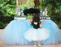 Wholesale table skirts wholesale - Home Textiles new Wedding Party Tulle Tutu Table Skirt Birthday Baby Shower Wedding Table Decorations Diy Craft Supplies