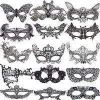 Wholesale mardi gras graduation party decorations for sale - Group buy Lace Halloween Masks Lovely Party Venetian Masquerade Decorations Half Face Lily Woman Lady Sexy Mardi Gras Masks For Xmas Day