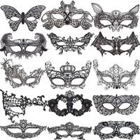 xmas metade da máscara venda por atacado-Rendas Máscaras de Halloween Partido Adorável Venetian Masquerade Decorações Meia Face Lily Mulher Senhora Sexy Mardi Gras Máscaras Para O Dia do Xmas