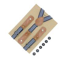 accessoires de ceinture de cuir achat en gros de-Bretelles en cuir véritable à rayures pour enfants réglables avec courroie de ceinture élastique