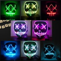 Wholesale adult women costumes for sale - LED Light Mask Up Funny Mask from The Purge Election Year Great for Festival Cosplay Halloween Costume New Year Cosplay
