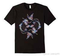 ingrosso acquistare pesce-Compra Camicie da ufficio online uomo O-Collo manica corta Love Koi Fish Tee