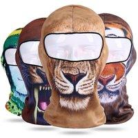 masques anti-poussière imprimés achat en gros de-Multi Fonction Imprimé Balaclava 3D Chat Chien Motif Animal Chapeau Vélo Vélo Etanche À La Poussière Masque Pour Le Visage Complet Masque Hommes Femmes 9 8lf BB