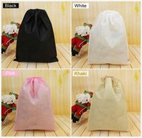 Wholesale 7x8cm Non woven clothes Storage Dust bag Packaging for handbag Travel Sundries storage Pull rope Free shipp