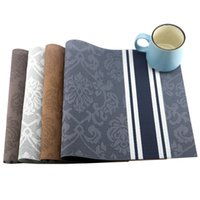 Wholesale Coloured Tables - 6 Pcs Lot 4 Colours Table Placemat Kitchen Accessories Placemats For Table Mat Drink Coasters Cup Dishes Mug Stand Kitchen Goods