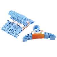 Wholesale store clothes hangers online - 40 x Kids Baby Plastic Coat Clothes Garment Trousers Hangers Blue durable worldwide store for keeping baby clothes Clean Tidy