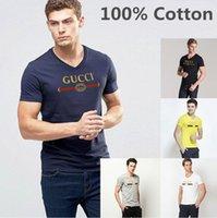 Wholesale 5xl Funny T Shirts - High Quality Casual t shirt men Brand LOGO Print tops funny Short sleeve t-shirt men 100% Cotton tee shirt mens t shirts fashion