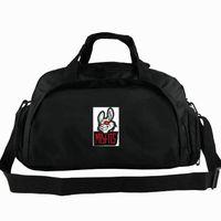 meute de lapin achat en gros de-Sac fourre-tout Misfits sac à dos ensemble de groupe de joueur Emblème lapin 2 voies utiliser sac à dos Badge bagage Voyage épaule duffle Sport sling pack