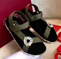 Wholesale high heels diamond - Drill Sandals Crystal Slippers High Quality Fashion Brand Diamond Design Causal Slide Huaraches Flip Flops Loafers by Free Shipping