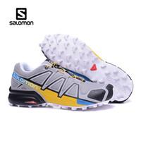 diseñador para hombre cruces al por mayor-2019 Nuevo Auténtico Salomon Speed Cross IV Hombre Diseñador Zapatillas deportivas para hombre Zapatillas Zapatillas de deporte de lujo para mujer