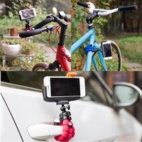 bicicletas de suporte de carro venda por atacado-Melhor venda de suporte do telefone da bicicleta do carro tripé polvo flexível suporte do temporizador para a câmera do iphone da apple samsung suporte universal