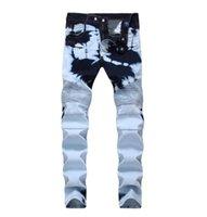 marcas famosas designer jeans venda por atacado-2018 nova chegada famosa marca jeans moda jeans prevalentes jeans de alta qualidade mens biker jeans