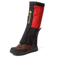 polainas impermeables rojas al por mayor-Al por mayor-Leg Gaiters tela  impermeable Gaiter 4341f8d5b64