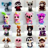 desenhos animados da panda do natal venda por atacado-Animais de pelúcia Brinquedos Dos Miúdos Bonecos De Pelúcia Dos Desenhos Animados da Coruja Do Cão Gato Pinguim Unicórnio Panda Coelho Animais De Pelúcia Para A Criança Brinquedos Presentes de Natal B189