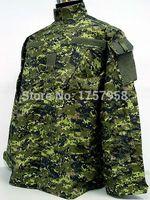 Wholesale woodland uniform online - Camouflage Canadian CADPAT Digital Woodland Camo ACU Style Uniform Set CADPAT Digital Woodland Camo Shirt and Pants
