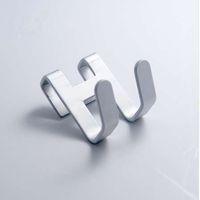 metall wandschlüsselhalter großhandel-4 stücke raum aluminium metall tür haken rahmen freies loch wandhaken handtuchhalter schlüsselhalter veranstalter bad zubehör