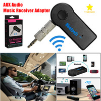 Wholesale 3 mm Car Bluetooth Receiver Car Kit Car Audio Wirelless FM Transmitter with Mic with Retail Package