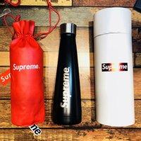 kutu kupaları toptan satış-Paslanmaz çelik retro yaratıcı high-end hediye fincan + fincan seti + hediye kutusu beraberindeki fincan kupa 304 Paslanmaz çelik şişe