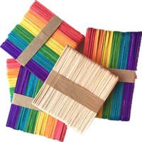 ingrosso giocattoli di classe-Multi Color Ice Stick in legno per bambini Artigianato a mano Arte Fai da te Funny Toolchildren Asilo manuale Class Toy 3xs Y