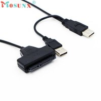 ноутбук кабель жесткого диска оптовых-USB 2.0 SATA 7+22Pin to USB 2.0 Adapter Cable For 2.5 HDD Laptop Hard Disk Drive_KXL0227