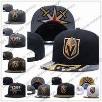 bonnet brodé achat en gros de-Vegas Golden Knights de hockey sur glace tricot broderie réglable Chapeau Beanies brodé Snapback Caps Gris Blanc Taille Stitched Chapeaux