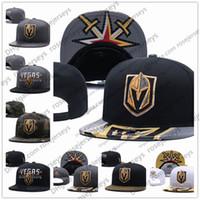 ingrosso beanie snapback-Vegas Golden Knights Hockey su ghiaccio Berretti a maglia Ricamo regolabile cappello ricamato Snapback Caps nero grigio bianco cucito cappelli One Size