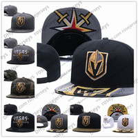 Wholesale grey knit beanie - Vegas Golden Knights Ice Hockey Knit Beanies Embroidery Adjustable Hat Embroidered Snapback Caps Black Gray White Stitched Hats One Size