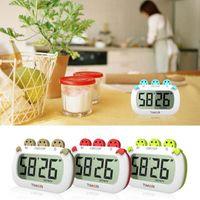 magnetic timer al por mayor-Temporizador de cocina digital Reloj de moda Temporizador de cocina con dígitos grandes Pantalla LCD grande Alarma fuerte Soporte magnético Soporte temporizador electrónico