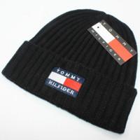 melhores chapéus de malha venda por atacado-Best Selling Maré Marca Chapéus de Malha de Inverno Chapéus Moda Anti-Inverno Chapéu Chapéus de Lã dos homens e Das Mulheres