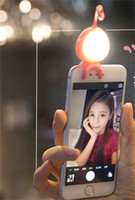 Wholesale camera shaped for sale - Cute Portable Selfie LED Flash Fill Light Alien Shape Light Enhancing Photography For Clip Camera For Universal Smartphone For iPhone