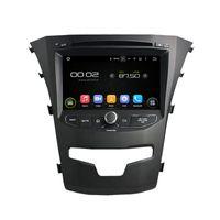 dvd del coche para ssangyong al por mayor-Reproductor de DVD del coche para SsangYong Korando 7 pulgadas Andriod 8.0 con GPS, control del volante, Bluetooth, radio