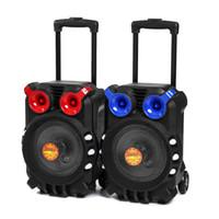 Wholesale tft speakers online - Horn speaker Trolley Bluetooth Audio Speaker Light Singing TFT Display USB TF BT Karaoke KTV System for outdoor