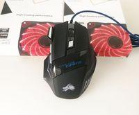 fare oyun meraklısı toptan satış-Profesyonel 5500 DPI Oyun Fare 7 Düğmeler LED Pro Gamer Bilgisayar X3 Fare için Optik USB Kablolu Fareler