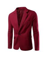 özel blazerler erkek toptan satış-Moda Erkekler Ceket Bir Düğme Slim Fit Suit Blazer Düğün Damat Suit Ceket Özel Yapılmış Örgün Ceket Özel Günlerinde Birçok Renkler için