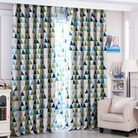 Wholesale shade curtain cloth resale online - Triangle Window Curtains Breathable Bedroom Living Room Decor Supplies Easy To Clean Shading Curtain Cloth High Quality yf BW