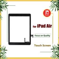 ipad luft touchscreen glas digitizer großhandel-Für iPad air 1 Für ipad 5 Digitizer Screen Touchscreens Glas mit Home Button Klebstoff Kleber Aufkleber Ersatzteile A1474 A1475