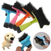 ingrosso capelli spazzolatura accessori-Pet Accessori Brand New Professional Puppy Cat Hair Grooming Slicker Pettine Gilling Brush Quick Clean Tool Pet