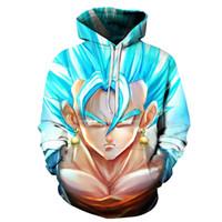 acryl 3d multi großhandel-Anime Hoodies Drachen Acryl Tasche Mit Kapuze Sweatshirts Kind Goku 3D Hoodies Pullover Männer Frauen Langarm Oberbekleidung Neue Hoodie