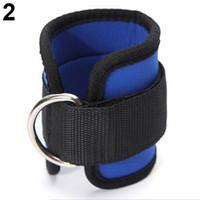 ingrosso esercitare i cavi-1Pc Cinturino alla caviglia D-ring Multi Gym Cable Attachment Coscia Leg Pulley Exercise