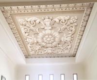 kabartma duvar kağıdı toptan satış-Duvarlar için klasik duvar kağıdı 3d üç boyutlu Avrupa kabartma desen taş oyma tavan tavan duvar