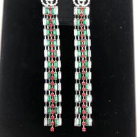 letras de amor de aretes al por mayor-Nueva llegada de la borla larga pendiente de lujo diseñador de la marca cartas Crystal Stud Earring regalo para el amor marca de joyería con envío rápido